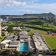 aerial view of iolani school