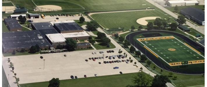 Beckman Catholic High School Iowa USA  Aerial