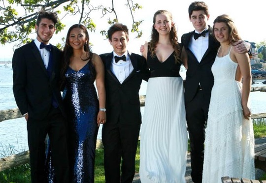 Marblehead High School students attending Prom