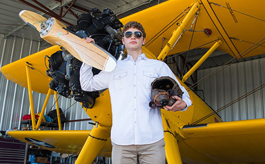 Student from Monterey Bay Academy student take a flying course
