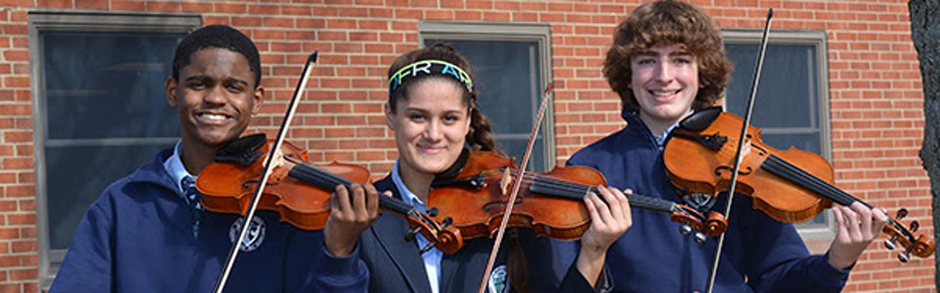 St Mary Ryken Maryland USA Violins Banner 2019